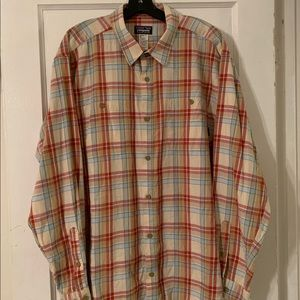 Patagonia Organic Plaid L/S Button Down Sz XL